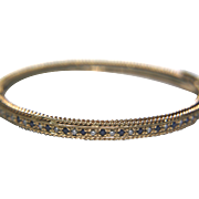 14k Solid Yellow Gold Sapphire & Diamond Bracelet