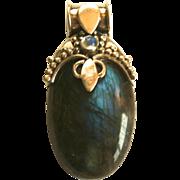 Sterling Silver & Labradorite Pendant
