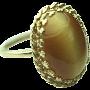 Baden & Foss 14k Solid Gold & Tiger Eye Cabochon Ring