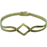 14k Multi-Toned Solid Yellow, Rose & White Gold Bracelet ~ 7 inches