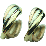 14k Multi-toned Gold Hoop Earrings