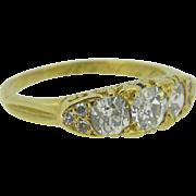 Victorian diamonds ring, 18 karat yellow gold