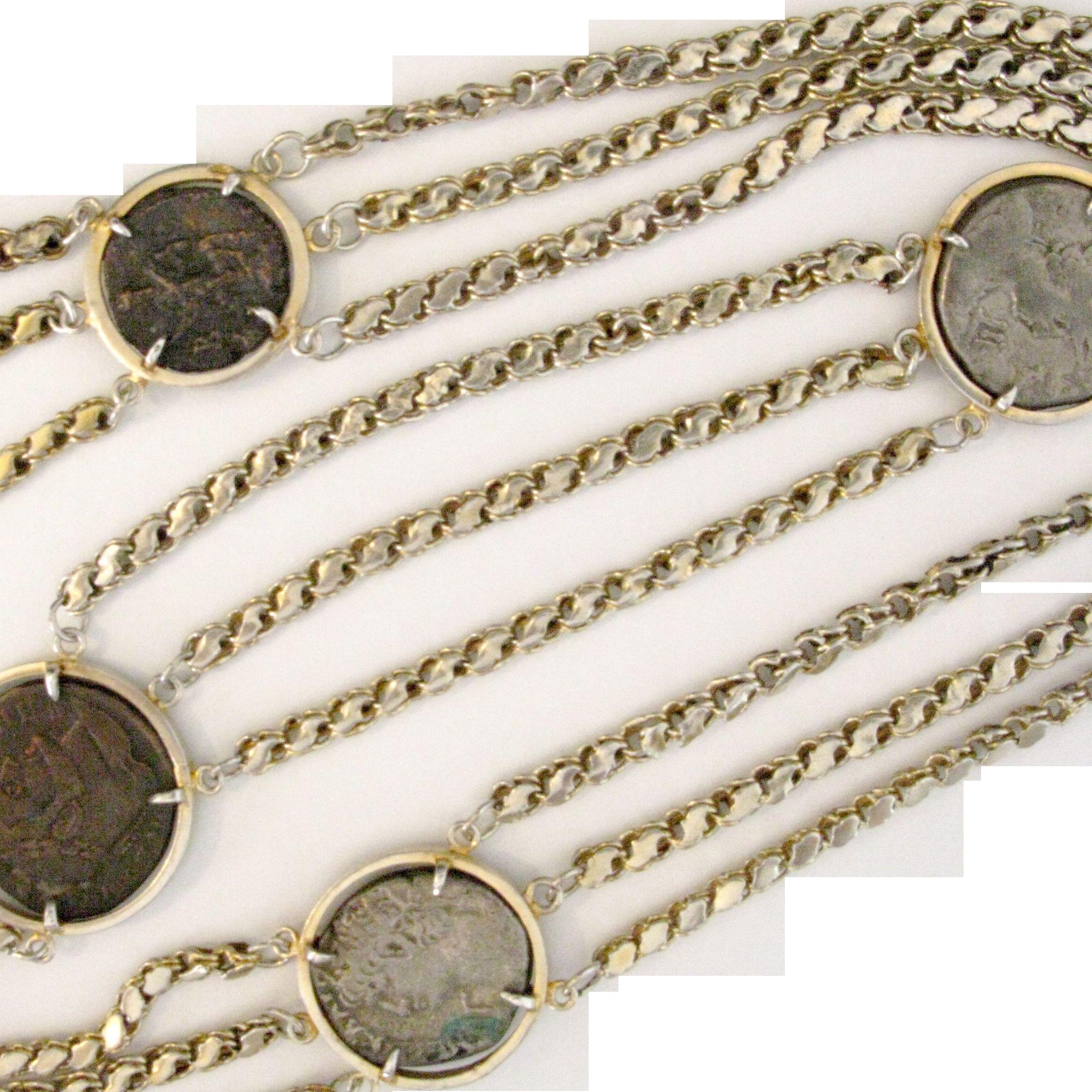 A rare Antique Coins necklace
