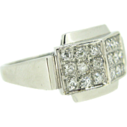 Art Deco diamonds ring ~ platinum ~ c.1920/1925