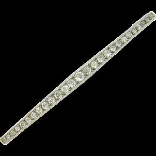 Edwardian diamonds brooch, 18kt gold and platinum, c. 1920