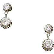 Art Deco Platinum diamonds earrings, c.1925