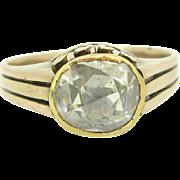 UNIQUE French Rose cut diamond set on 9kt gold, circa 1870