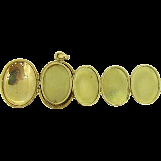 UNIQUE Multi photos French locket ~ Family folding locket, 18kt gold