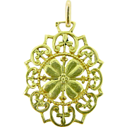 Antique French Trefoil pendant, 18kt gold, c.1900