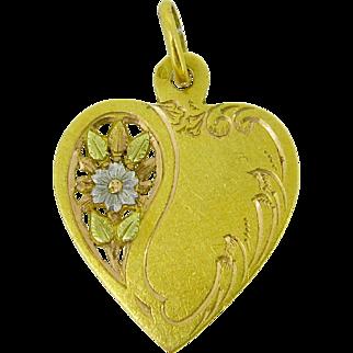 Ravishing French Heart Pendant, 18kt gold, Victorian, c.1890
