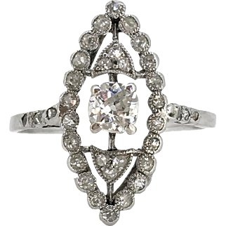 STUNNING Edwardian Diamonds ring, c.1905, 18kt gold and platinum