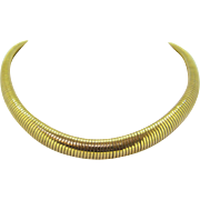 French Retro 18kt gold collar, necklace, TUBOGAS, by Rey Coquais, c.1940