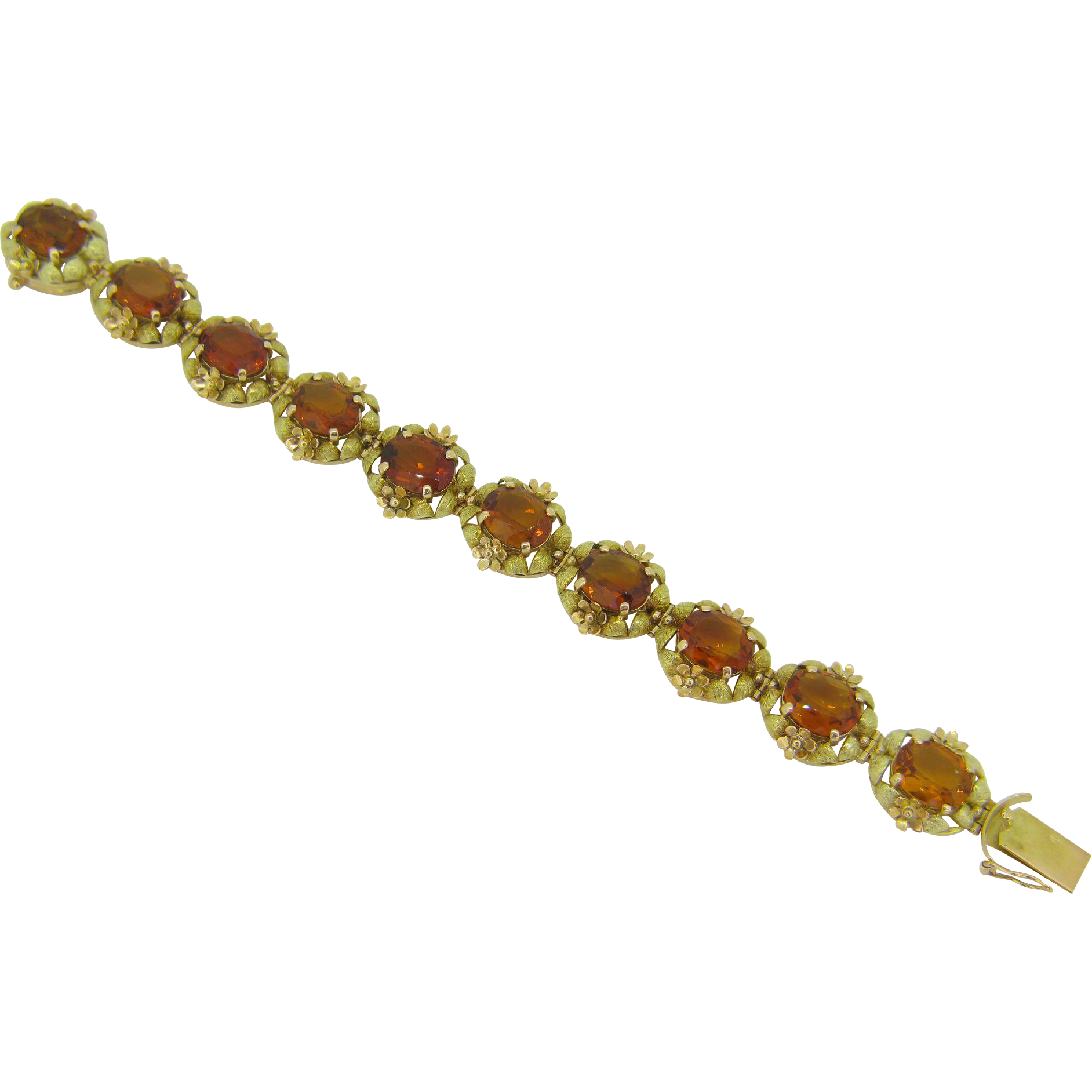 Stunning Victorian Citrine bracelet, 18kt gold, c.1880