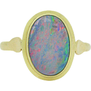 Antique Art Nouveau Opal, 2.20ct app, 14kt gold, c.1900