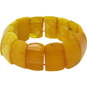 Vintage Chunky Natural Baltic Amber Bracelet