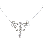 Stunning Edwardian Diamonds necklace, French, 18kt gold and platinum, circa 1905