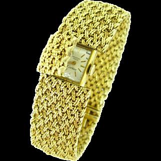 Vintage Cartier Secret Wristwatch bracelet, 14kt and 18kt gold, circa 1950/60
