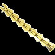 Vintage Retro 18kt gold Tank Bracelet, French, circa 1940