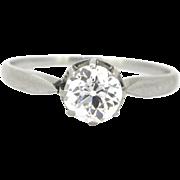 Art Deco Diamond ring, platinum, circa 1925
