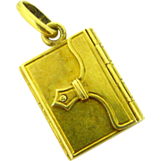 Antique French Locket , 18kt gold, circa 1880