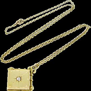 Antique Victorian locket, diamond, circa 1880, England
