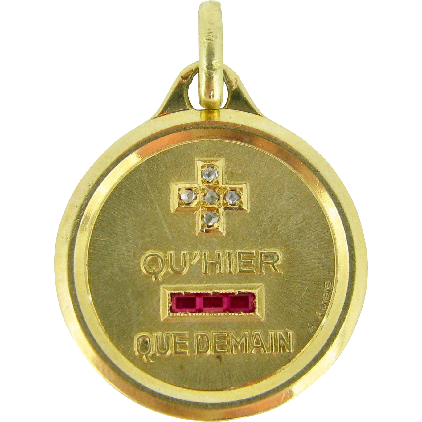 LARGE French Augis Medal, 18kt gold