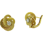 RETRO Diamonds earrings, 18kt gold, FRANCE
