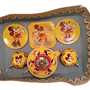 Vintage Mickey mouse tea set, original card