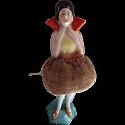 Vintage standing half doll