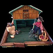 German chicken coop and Schoenhut farmer