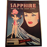 vintage Sapphire Queen of night clubs paper dolls, uncut