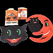 Vintage Embossed Halloween cats, treat bags too