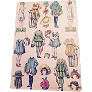 1918 French paper dolls, uncut