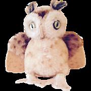 "5"" Steiff Owl, free shipping"
