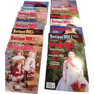 16 Antique doll Collector magazines!