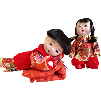 Pair of cute Chinese babys