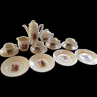 Vintage porcelain Coffee & cake set