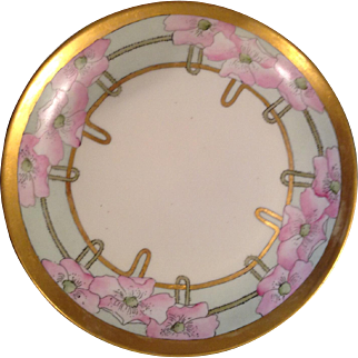 Deco hand-painted Bavarian plate