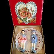 Painted bisque German children