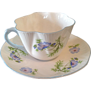 "Shelley ""Blue Poppy"" cup & saucer"