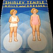 Shirley Temple paper dolls. 1934 uncut