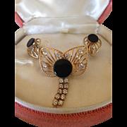 Vintage 12k gf VanDell Brooch& earrings