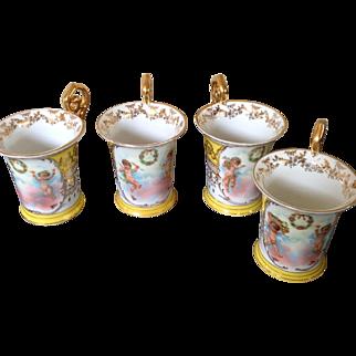 Antique Austrian cherub cups