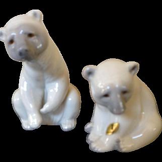 Darling Lladro Polar Bear couple