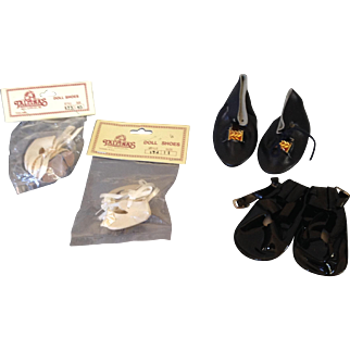 Four newer pair Doll Shoes