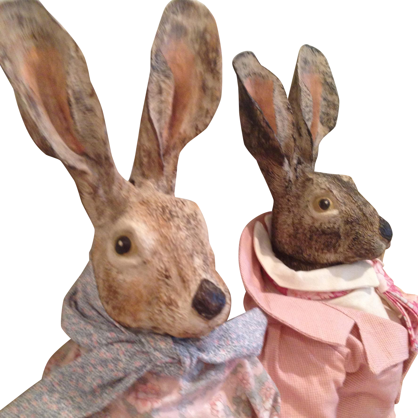 Magnificent Mr & Mrs Rabbit, Artist dolls