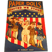 Mint 1943 United We Stand paper dolls