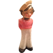 Vintage chalk ware sailor girl