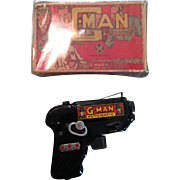 MARX G man gun, with box!