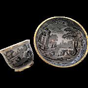 Mint, Spode black Italian bowl & cache pot
